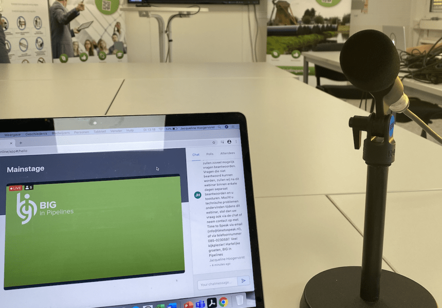 Opname live webinar virtuele excursie stikstoffabriek Zuidbroek