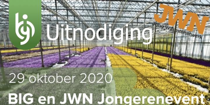 Uitnodiging BIG en JWN jongerenevent op 29 oktober