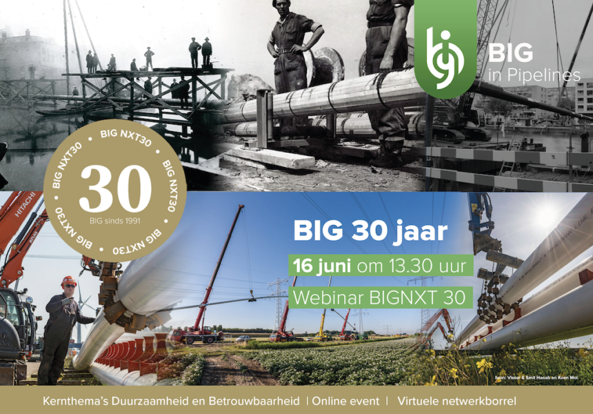 BIG in Pipelines viert 30 jarig jubileum