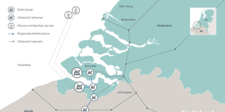 Ørsted ontwikkelt een van de grootste duurzame waterstoffabrieken ter wereld voor de Nederlandse en Vlaamse industrie